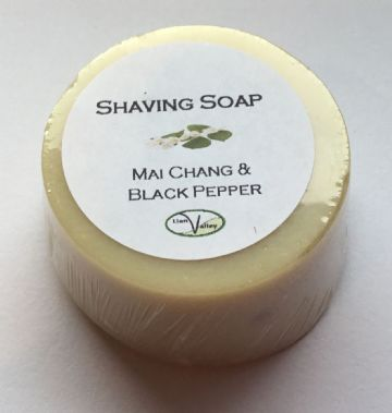 Round Shaving Soap, Mai Chang & Black Pepper
